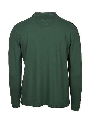 Dagi Beyaz Polo Yaka Uzun Kol Erkek T-Shirt Yeşil